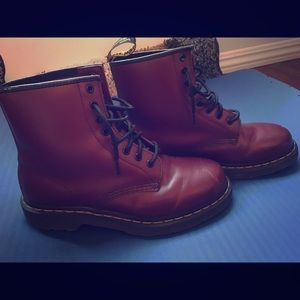Beautiful Deep Red Dr. Martens Boots